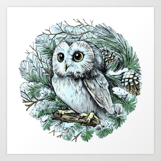 Winter owl by olakholkina