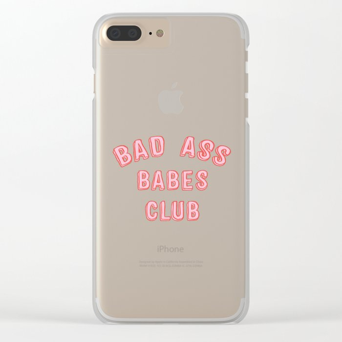 BAD ASS BABES CLUB Clear iPhone Case