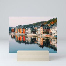 Riverfront Row Houses (Dinant, Belgium) Mini Art Print