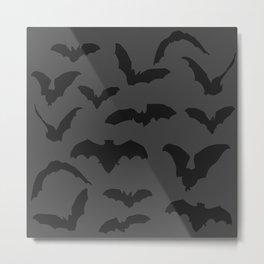 Halloween Pattern Design Bats Metal Print