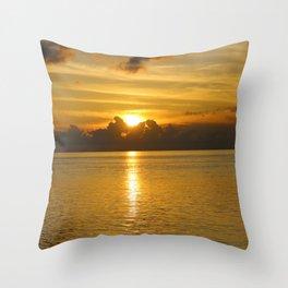 Keys Sunset Throw Pillow