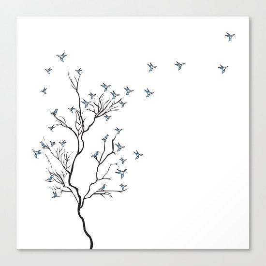 The Bird Tree Canvas Print