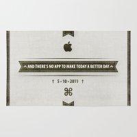 steve jobs Area & Throw Rugs featuring • Steve Jobs Dies • by Fabio Persico