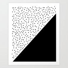 Geometric black and white Art Print