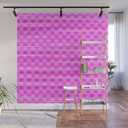 Pink Checkers Wall Mural