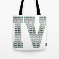 1989 Tote Bags featuring Cement Retro IV's (1989) by Dogum Design