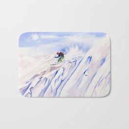 Powder Skiing Bath Mat