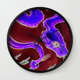 Eat Your Apples Wall Clock