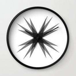 Starburst 3 Wall Clock