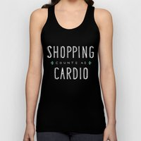 Shopping Counts As Cardio Unisex Tank Top