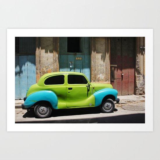 Vintage Cuba Art Print