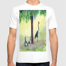 Canadian Geese Mens Fitted Tee White MEDIUM