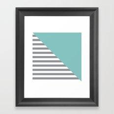 Tiffany Diagonal Framed Art Print