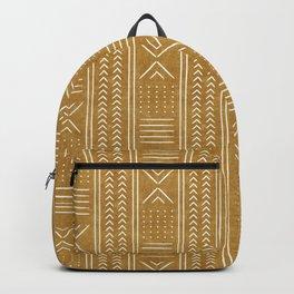 mustard mud cloth - arrow cross Backpack