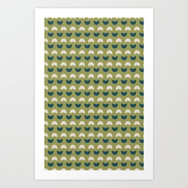 Abstract / Organic Surface Pattern (blue-green small) Art Print