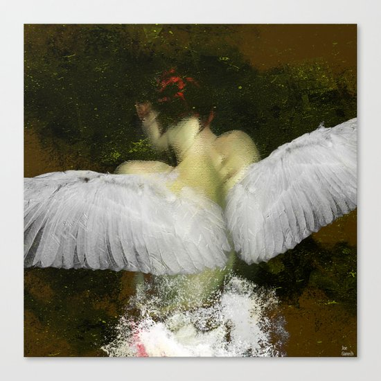 The angel of the hope Canvas Print