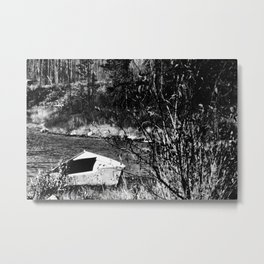 The old forgotten boat in northern Canada Metal Print