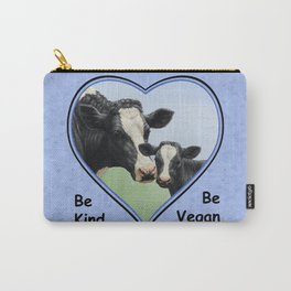 Holstein Cow and Calf Vegan Carry-All Pouch