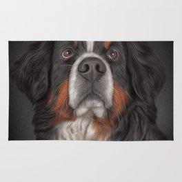 Drawing Bernese Mountain Dog. Rug
