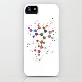Serotonin molecule iPhone Case