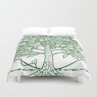 coasters Duvet Covers featuring Forest Lover's Tree by KimberlyVautrin