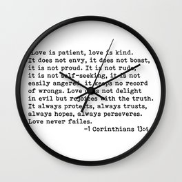 Love is patient... Wall Clock