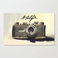 selfie Canvas Prints featuring Selfie by Art_Konstantinov