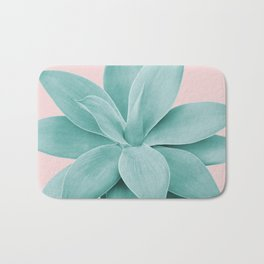 Blush Agave Romance #1 #tropical #decor #art #society6 Bath Mat