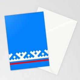 flag of Yamalo-Nenets Okrug Or Yanao Stationery Cards