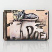 edgar allan poe iPad Cases featuring Edgar Allan Poe by Andreas Derebucha