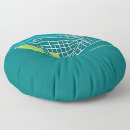 Brownes Addition / Peaceful Valley, Spokane Floor Pillow