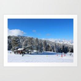 Buttermilk Skiers   Art Print
