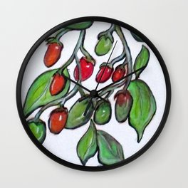 Pomodoro Buds Wall Clock