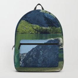 Emerald Green Alpine Lake Backpack