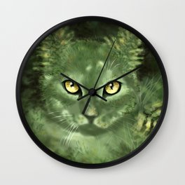 Fern Cat- El gato helecho Wall Clock