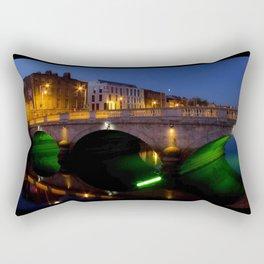 Dublin's River Liffey By Night Rectangular Pillow