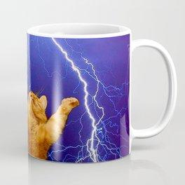 cat Thunders lighting space universe galaxy Coffee Mug