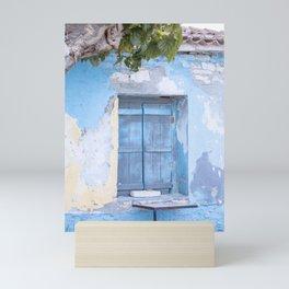 Bleu Shutter   Samos, Greece   Travel Photography   Art Print Mini Art Print