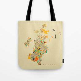 Boston map Tote Bag