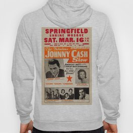 1967 Johnny Cash, Carter Family, Carl Perkins at Springfield Shrine Mosque Concert Poster Hoody