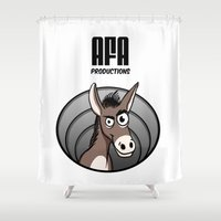 logo Shower Curtains featuring Logo by Guy Moments