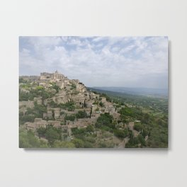 Hilltop village of Gordes Metal Print