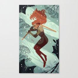 2 of Swords Canvas Print
