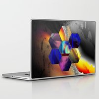 hexagon Laptop & iPad Skins featuring hexagon II by donphil