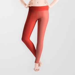 Shades of Living Coral From Hot Tomato Coral to Pale Blush Leggings