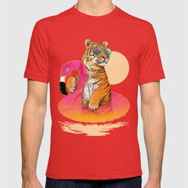Chillin (Flamingo Tiger) T-shirt