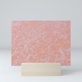 pink seafoam Mini Art Print