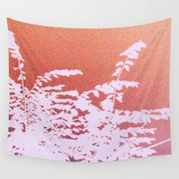 plant Wall Tapestries featuring Peach Plant by Whimsy Romance & Fun