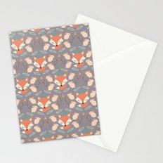 Foxes and rabbits Stationery Cards