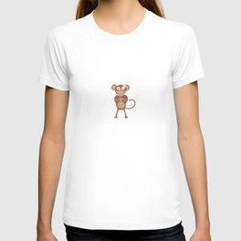 amorous female monkey with flower T-shirt